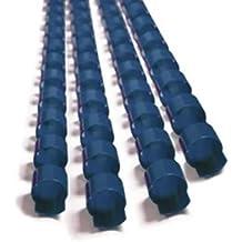 100xFellowes Plastikbinderücken Spiralbindung Binding-Combs 21Ringe A4 6mm blau