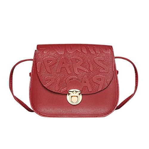 Muium 5 colori moda borse a spalla da donna borsetta borsa del tote per donna elegante borsa a tracolla in pelle artificiale nera,marrone,blu,rosa,rosso(17cmx6cmx13cm)