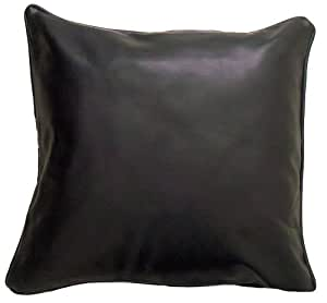 Faux Leather Black Cushion Cover 43 x 43 cms