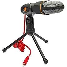 Temo stereoscopico professionale a condensatore Audio Microfono con supporto per PC e Skype MSN QQ registrazione Nero Black - Più Power Filter