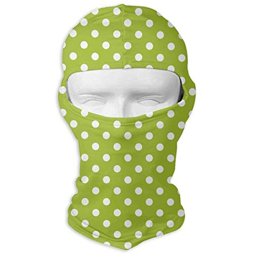 Sdltkhy Spring Green White Polka Dots Men Women Balaclava Neck Hood Full Face Mask Hat Sunscreen Windproof Breathable Quick Drying New14 Rasta Dot