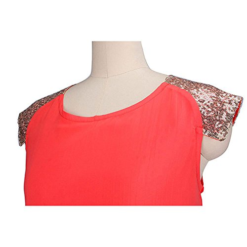 Adolpha Damen Kleid quadratischen Kragen ärmellosen dünnen Polyester Frühling Sommer (rot, grün, blau, rosa) Green