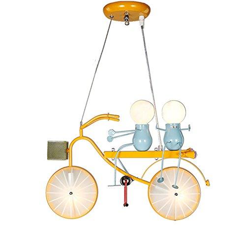 Kreative Cartoon Kronleuchter, Nordic Boy Girl Eisen LED Fahrradbeleuchtung Dekorative Deckenleuchten Moderne Minimalistische Kindergarten Esstisch Kind Pendelleuchte