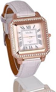 Fusine™ MxRe Fashion Square case Leather Watch for Women