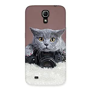 Special Kitty Photographer Multicolor Back Case Cover for Galaxy Mega 6.3