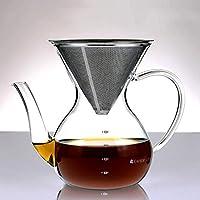 """Avertissement: cette cafetière pourrait vous transformer en """"café snob""""Les amateurs de café du monde entier découvrent l'étonnante différence de goût qui se dégage d'une tasse de café préparée lentement. C'est leforme de cône unique et le maillage en..."""