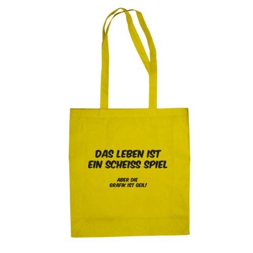 Das Leben ist ein scheiß Spiel - Stofftasche / Beutel Gelb