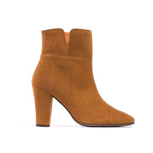 NAE Bline - Damen Vegan Stiefel (38, Braun) - 2