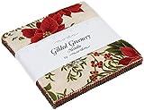 vergoldet Greenery Metallic Charm Pack von Moda;