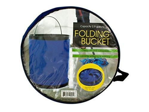 Bulk Buys Collapsible Folding Nylon Bucket with Metal Handle