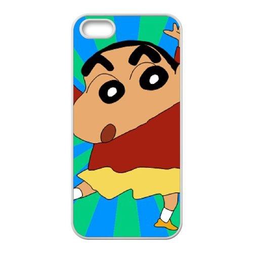 Crayon Shin Chan coque iPhone 4 4S Housse Blanc téléphone portable couverture de cas coque EBDXJKNBO16801