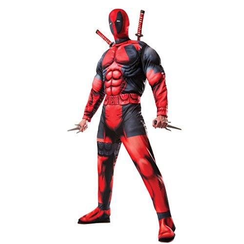 Mann Superhelden Kostüm - Amakando Herrenkostüm Superheld - STD (48 - 52) - Deadpool Anzug Herren Marvel Heldenkostüm Männer Superhelden Kostüm Superhero Outfit Erwachsene Deadpool Kostüm mit Maske