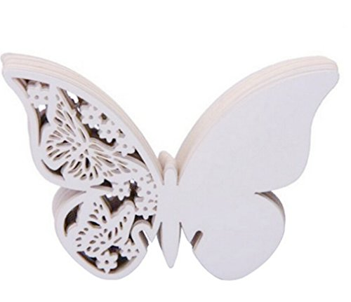 SAMGU 50pcs Butterfly Place Wine Glass Cup Card Papier pour Wedding Party Accueil Décorations