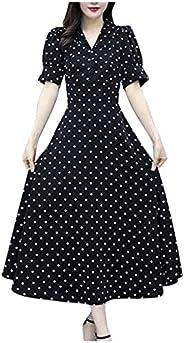 Zottom mode voorjaar en zomer jurk dames elegante lange mouwen jurk met stip patroon jurk