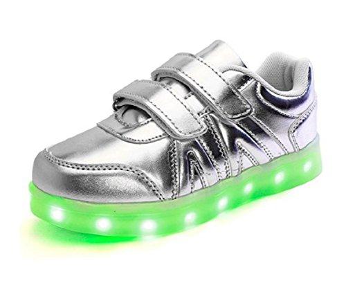 Koo-T , Mädchen Sneaker Silver Velcro