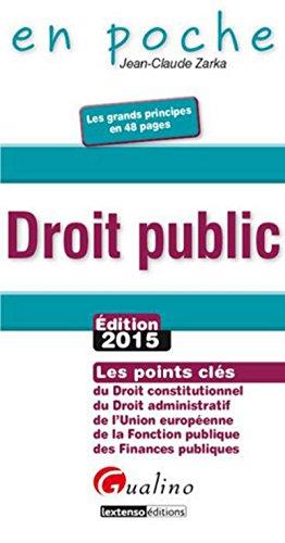 Droit public 2015