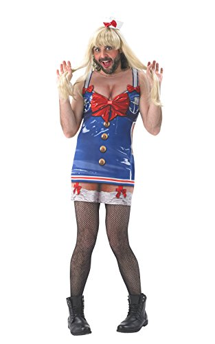 Rubie 's Offizielles Real Appeal Saucy Sailor Hirsch Hen Night, Erwachsenen-Kostüm – X-Large