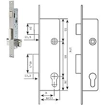 Tesa 2210/28/SSI - Cerradura sin cerradero ni escudo