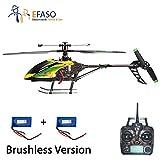 efaso RC Helikopter V912 mit Brushless Motor - 2,4 GHz, 4-Kanal Single Blade Gyro Hubschrauber mit Kameravorbereitung komplett RTF inkl. Zusatzakku
