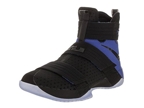 Nike Mens Lebron Soldier 10 SFG Basketball Shoe Black/Black-game Royal