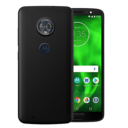 Hupshy Moto G6 Cover/Moto G6 Back Cover/Moto G6 Plain Case & Cover/Soft TPU Cover for Moto G6 – Black (BCRK01)