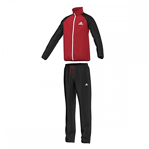 Adidas Kinder Trainingsanzug YB TS ENTRY Oh, Rot/Schwarz, 116