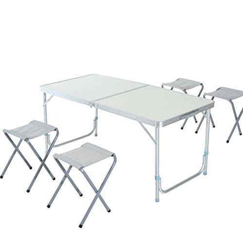 Bakaji tavolo tavolino da campeggio 120 x 60 cm regolabile in altezza pieghevole formato valigia - Tavolo pieghevole a valigia ...
