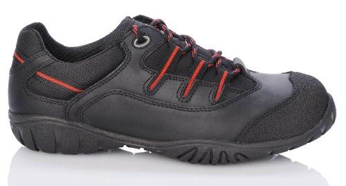 2W4 TEXAS Halbschuh EN345 S3 schwarz/rot Sicherheitsschuhe Sport Schwarz