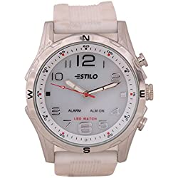 Estilo Analog-Digital Touchscreen Watch For Men-2137white