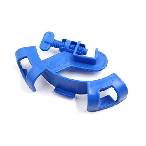 Blau Kunststoff Wasser Rohr Schlauch Clip Halter Aquarium Fisch Schüssel Zubehör DE -