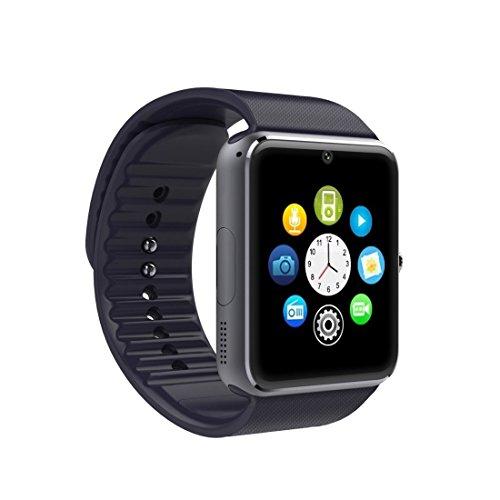 HEGG - Smartwatches (Silber + Schwarz) (Schwarz)