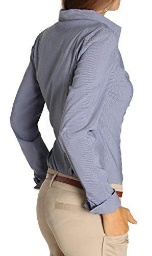 bestyledberlin Chemise pour femme, Stretch blouse t25z Noir