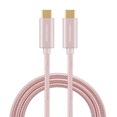 CableCreation USB C auf USB C Kabel, Typ c Datenkabel/ladekabel,kompatible mit MacBook (Pro), Huawei P20 P30, Galaxy S9, S9+,LV V20, OnePlus 6, Pixel, und USB C Computer,Smartphone, Rose Gold 3m -