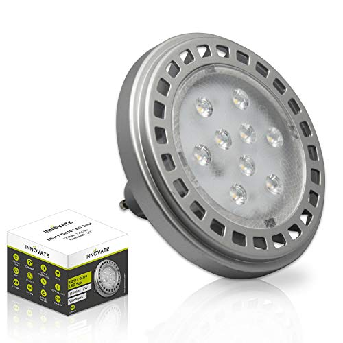 ES111 GU10 LED Leuchtmittel Lampe Spot Strahler / QRB11 (ES111 / QRB111 GU10 LED Leuchtmittel Spot, 12W, 60°, warmweiss, dimmbar - ersetzt 100W)