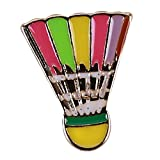Beiswin Mignon Sports Series Émail Badge de Dessin Animé Bowling Patins Badminton Ballon À Air Chaud Broche Broche pour Accessoire Charme (3#)