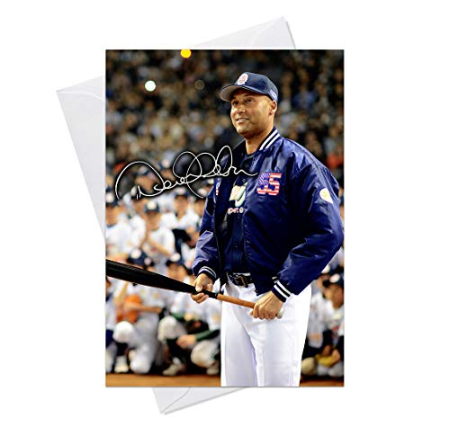 Derek Jeter New York Yankees 3 - Quality Greeting Card for any Occasion (Birthday, Christmas, Thank you, Engagement, Anniversary etc) -