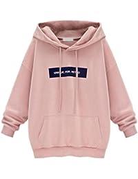 Moonuy Damen Hoodies, Frauen Herbst/Winter Neue Stil Langarm Hoodie Sweatshirt Jumper mit Kapuze Pullover Stilvolle Kleidung Elegante Bluse S~6XL
