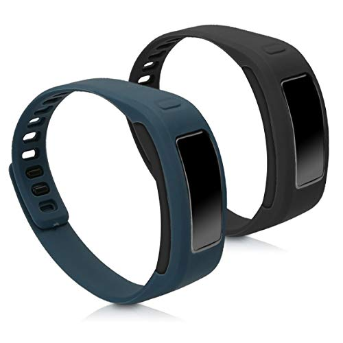 kwmobile Garmin Vivofit Armband - 2X Silikon Fitnesstracker Sportarmband für Garmin Vivofit