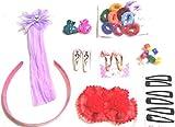 #10: Lovely 36 pcs. Gift Set Multicolour Kids Hair Accessories Fashion Clips Hair Band Head Band Clutches Hair Pin, Hair Accessory Set.