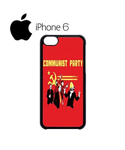 Communist Party Banksy Lenin Stalin Marx Fidel Swag Mobile Phone Case Back Cover for iPhone 6 White Schwarz