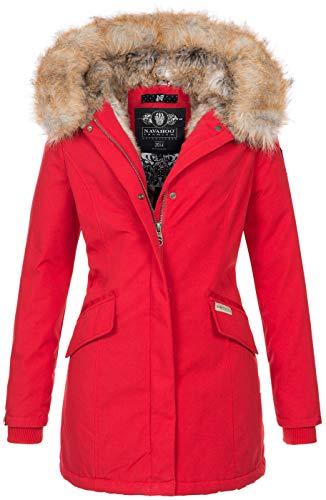 Navahoo Damen Winter Jacke Parka Mantel Winterjacke warm Kunstfell Premium B669...