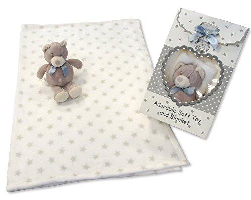 Bébé doux Ours en peluche et étoile Couverture - Sac Cadeau Ensemble