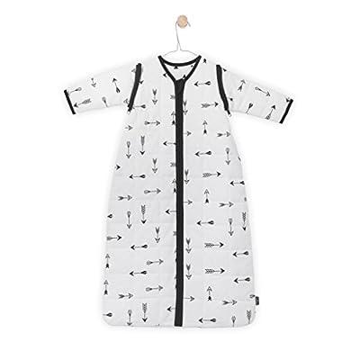 Jollein 01640510–542–065081indios con mangas extraíbles. All Season saco de dormir (110cm), color blanco