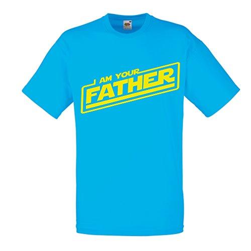 lepni.me Camisetas hombre Yo soy tu padre Regalos de la mordaza para él regalos para el papá,dia del padre (Medium Azul Multicolor)
