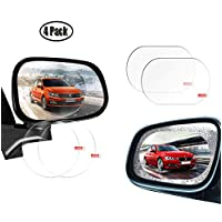 Ymwave 4pcs Car Rearview Mirror Protective Films Anti Fog Film Waterproof Transparent Film Anti Fog Anti-glare Anti Stain for Car Motorcycle