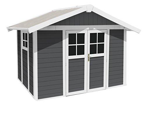 GROSFILLEX Kunststoffhaus Deco H 7,5, BxT: 315x239 cm, in 2 Farben dunkelgrau, weiß