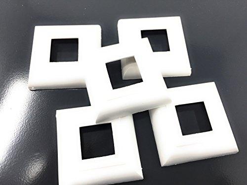 10 Stck Abdeck Rosetten für Heizkörper Heizungsrohr Kupferrohr Abdeckrosette weiss (30x30)