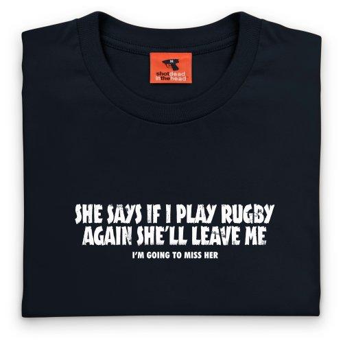Girlfriend vs Rugby T-Shirt, Herren Schwarz