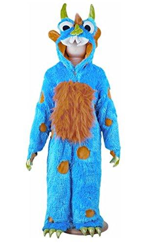 Kostüm Kind Monster - Blaues Monster Kostüm Kinder 2-3 Jahre / 92cm