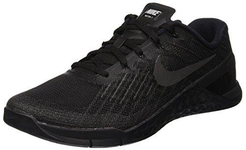 Nike Herren Metcon 3 Trainingsschuhe, Schwarz (Black/Black), 42.5 EU -